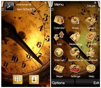 تم موبایل Golden Clock برای نوکیا سری ۶۰ ورژن ۳